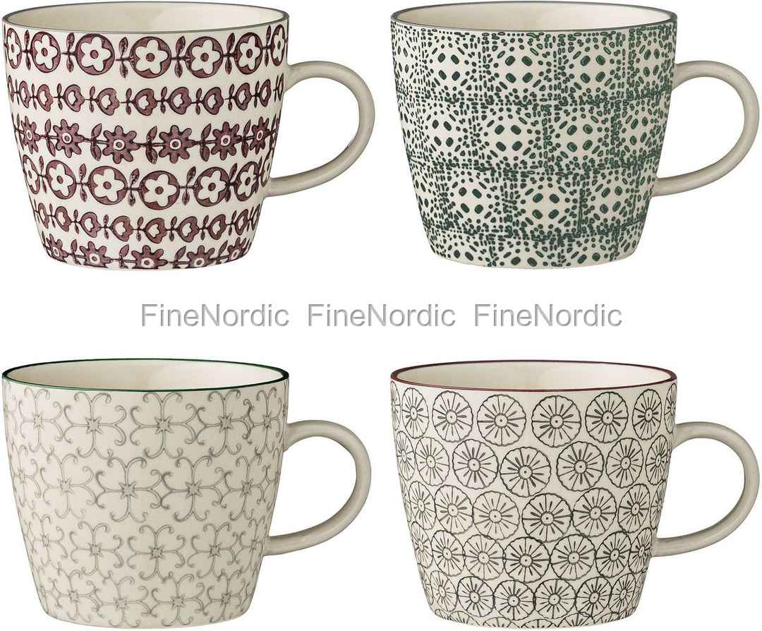 bloomingville mugs karine set of 4. Black Bedroom Furniture Sets. Home Design Ideas