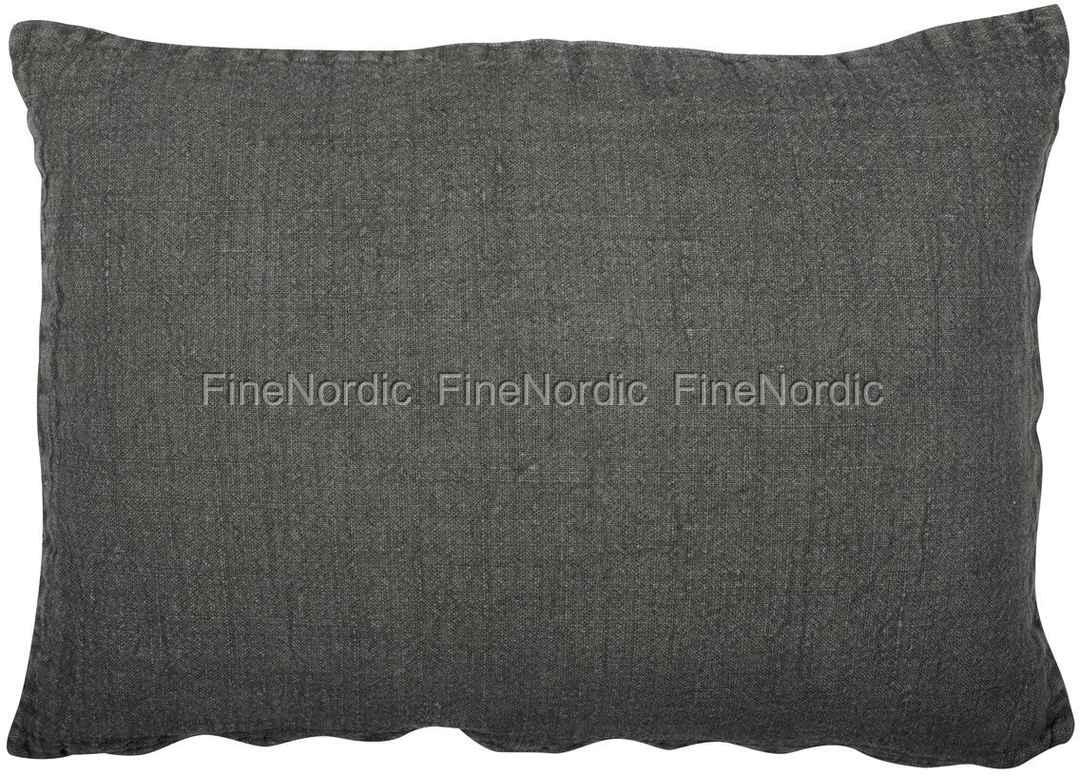 Ib Laursen Cushion Cover Dark Grey 50 X 70 Cm