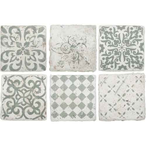 Ib laursen tiles marrakech set of 6 patterns in green medium - Ib laursen fliesen ...