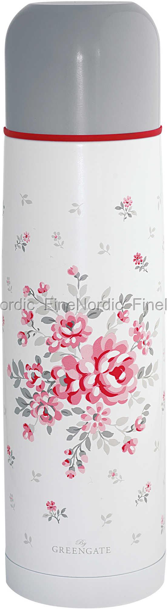 NEU GreenGate Thermos Bottle Flora White 800 ml
