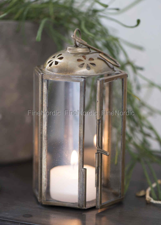 ib laursen lantern mini hexagonal brass